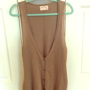 Sleeveless Cardigan/Vest